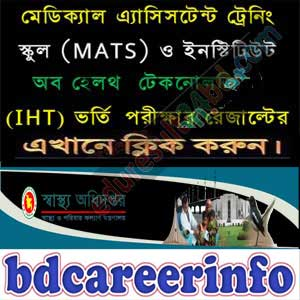 MATS IHT Admission Result 2018-19