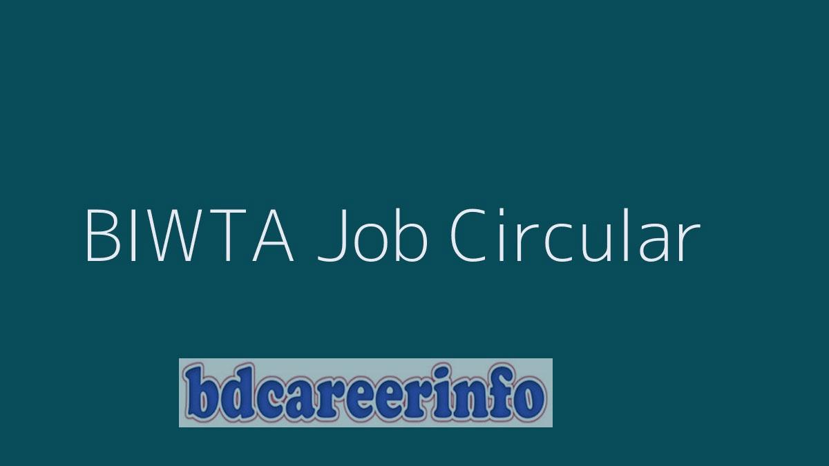 BIWTA Job Circular 2019